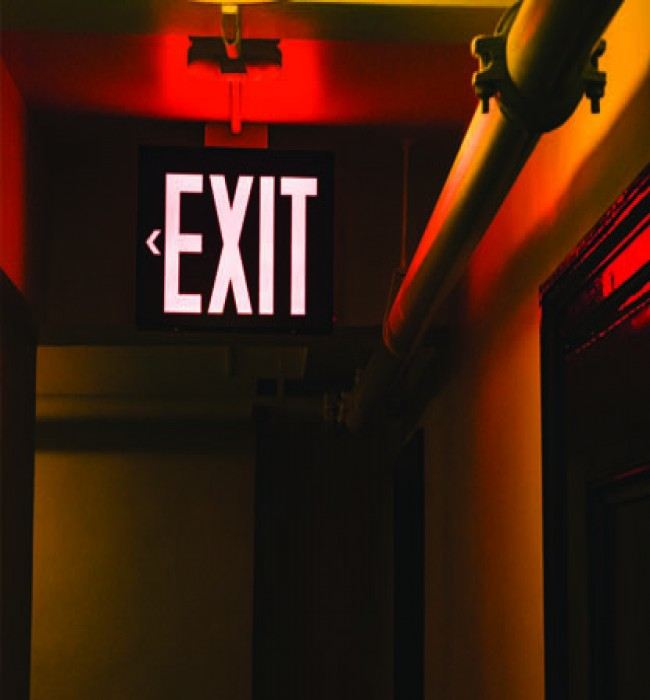 The vital importance of the EXIT light
